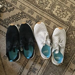 Two pairs of native tennis shoes sz 7.5/8